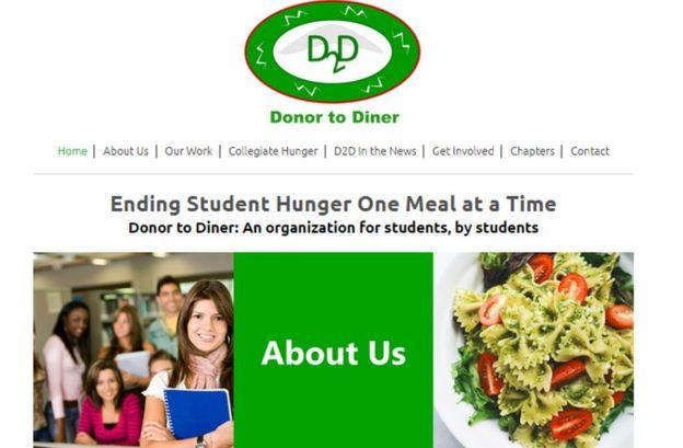 página web oficial de Donor to Diner.