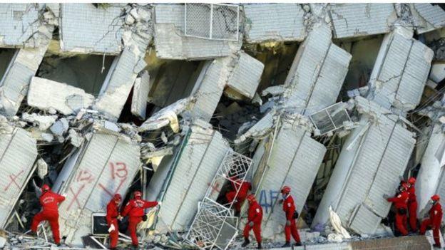 زلزله فوریه دو سال پیش هم چند ساختمان بلندمرتبه را در تایوان فروریخت