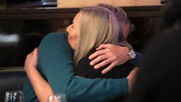 Gary Hodges and Karen Scoltock meet for the first time in April 2019