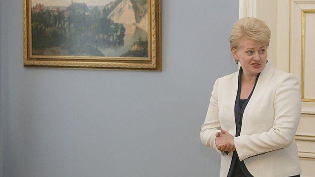 La presidenta lituana