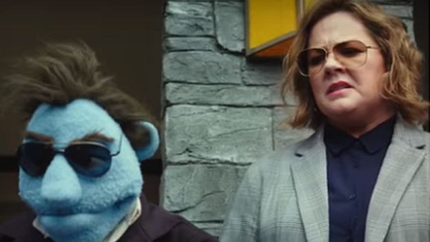 Melissa McCarthy has a puppet partner in the cop-buddy film