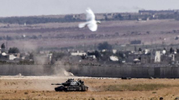 Suriye sınırında Türk tankı