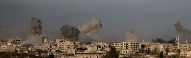 Eastern Ghouta under bombardment