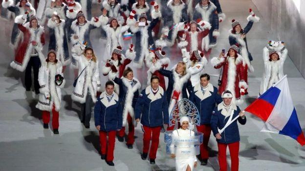 Delegación rusa en Sochi 2014