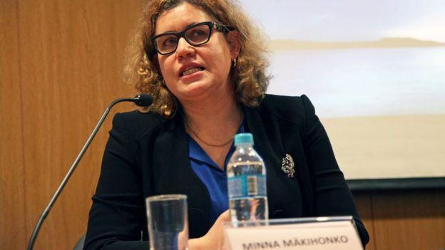 Minna Makihonko em debate em SP