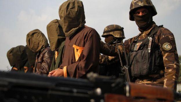 пленные боевики в Афганистане