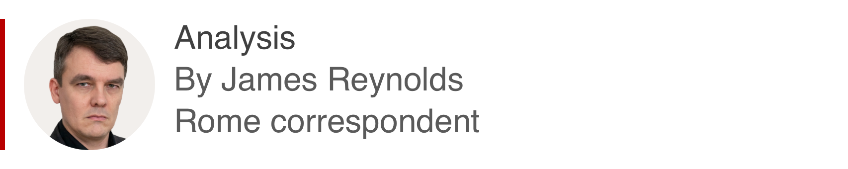 Analysis box by James Reynolds, Rome correspondent