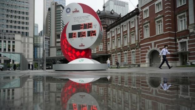 Clock counting down to Tokyo Olympics in 2021