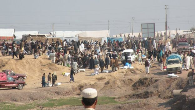 Camp for internally displaced people from the tribal areas, Peshawar 2013