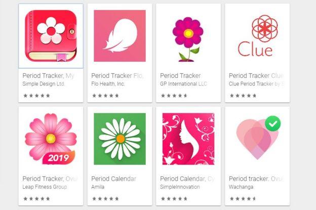 Apps para el periodo
