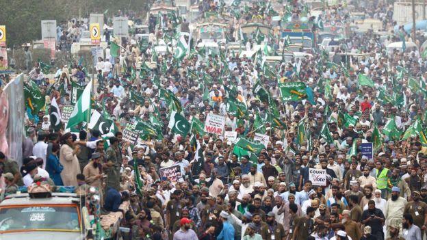 Karaçi'de bir gösteri