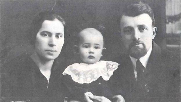 Георгий Винс с родителями, Лидия и Петр