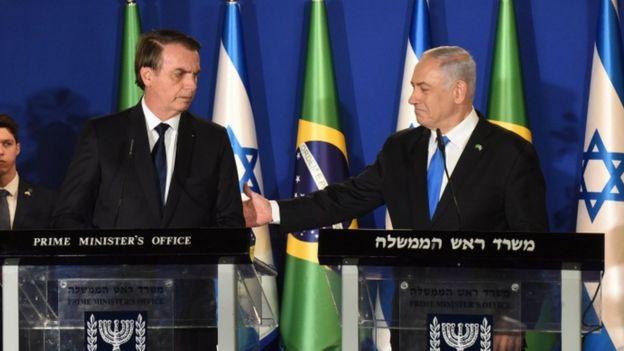 Jair Bolsonaro e Benjamin Netanyahu