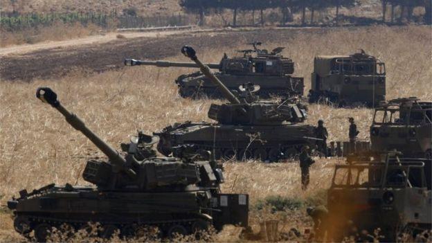 Israeli artillery unit near Israel-Lebanon border (01/09/19)