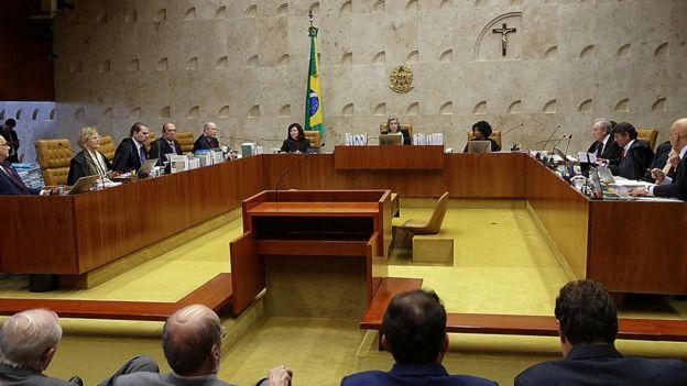 Plenário do STF em julgamento de habeas corpus a favor de Lula