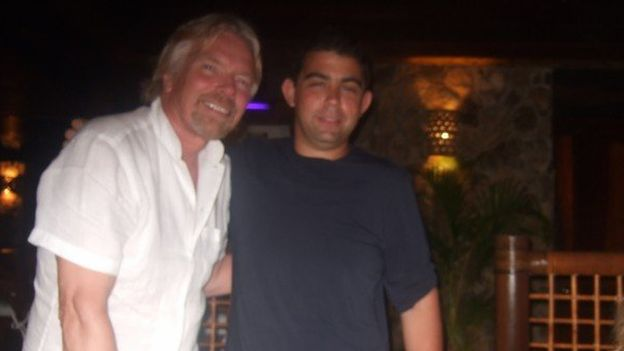 Andrew Michael with Sir Richard Branson