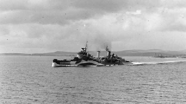 El HMS Belfast en 1944