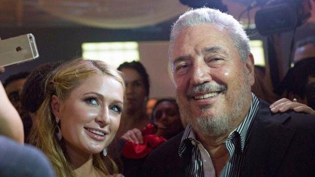 'Fidelito' và cô Paris Hilton trong một chuyến đến thăm Havana của nhân vật thượng lưu Mỹ