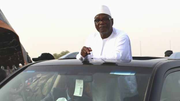 President Ibrahim Boubacar Keita at a rally in Gao - July 2018