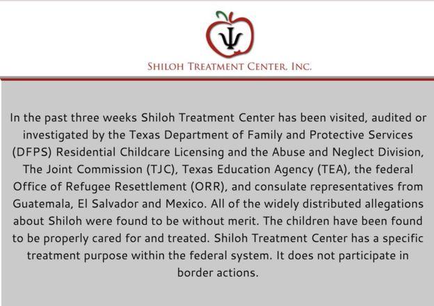 El comunicado del centro Shiloh