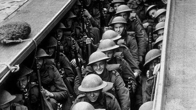 Soldados a punto de desembarcar