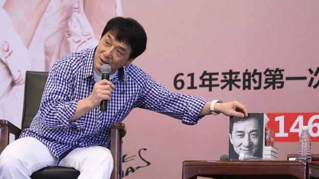 Actor Jackie Chan promoting his autobiography