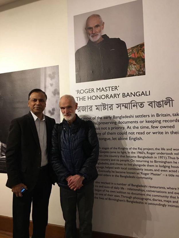 'রজার মাস্টারের' সঙ্গে লেখক কাজী জাওয়াদ