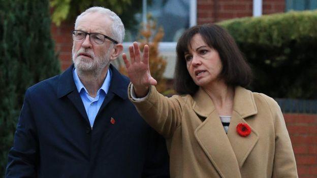 Jeremy Corbyn and Caroline Flint