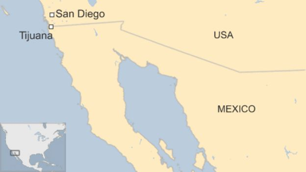 Huge USMexico Drugs Tunnel Found In San Diego BBC News - San diego us map close to mexico