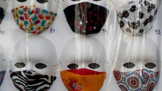 Продажа масок в Мадриде