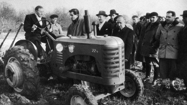 Un tractor del Plan Marshall.
