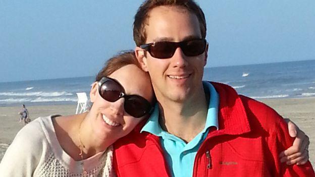 Lisa Kolb with her husband Erik