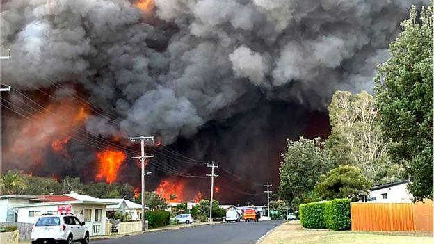 Blaze in Harrington north of Sydney on 8 November