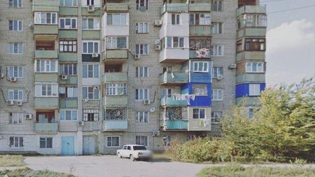 Bloque de apartamentos de concreto en Rusia