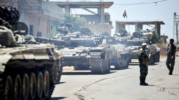 Suriye ordusu operasyonda bugüne kadar birçok yerleşim biriminde kontrolü sağladı.