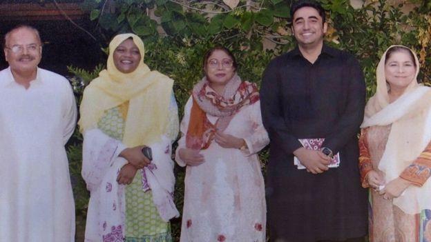 Ms Qambrani oo la sawiran Bilawal Bhutto