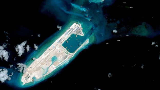 Satellite image of an island