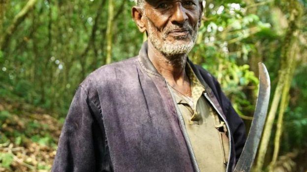 رجل يرعى أشجار البن في كافانا