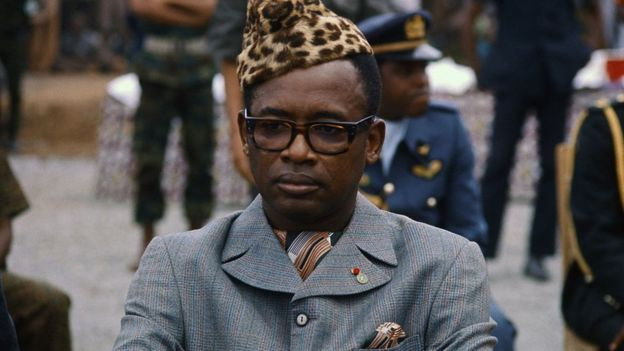 Mobutu Sese Seko pictured in the 1970s
