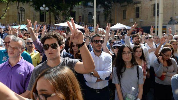 Galizia'nın ölümünden sonra adaletin sağlanması için proteso gösterisi