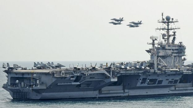 Foto del USS Abraham Lincoln.
