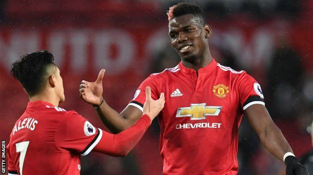 Manchester United duo Alexis Sanchez and Paul Pogba
