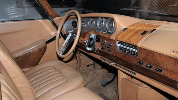El interior del auto de De Gaulle.