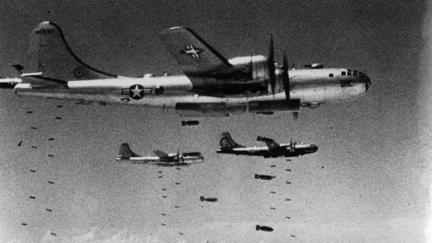 Bombarderos de Estados Unidos durante la Guerra de Corea.