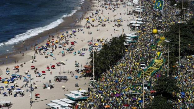 Protestos no Rio, neste domingo