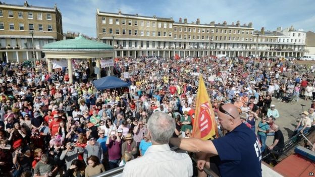 Jeremy Corbyn speaking in Ramsgate