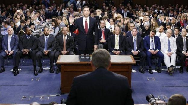 Audiencia de James Comey en el Senado.