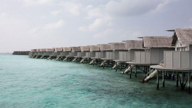 Un resort en Maldivas