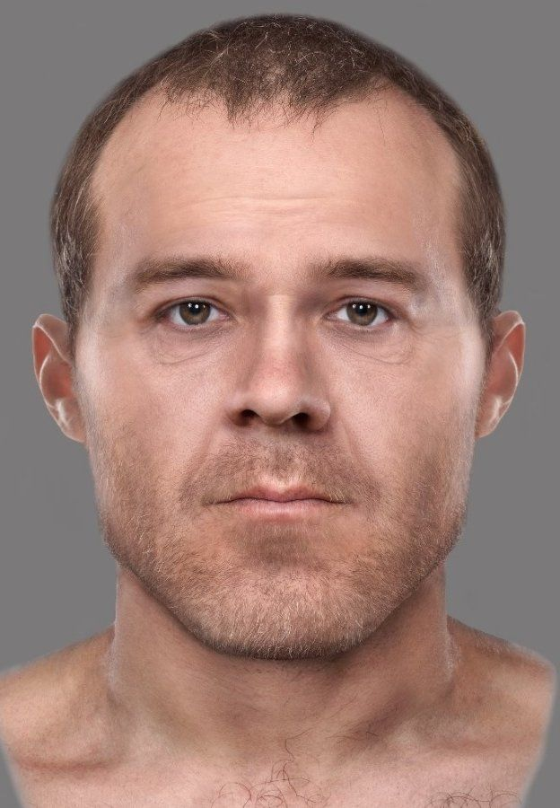 Forensically reconstructed face of John Howison