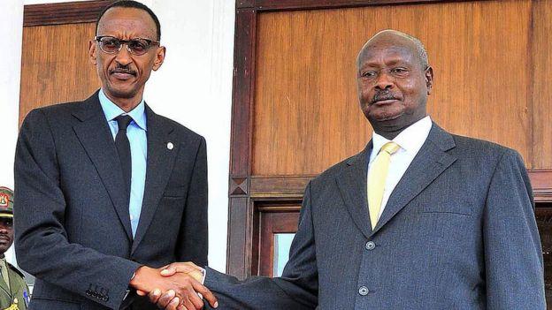 Paul Kagame et Yoweri Museveni